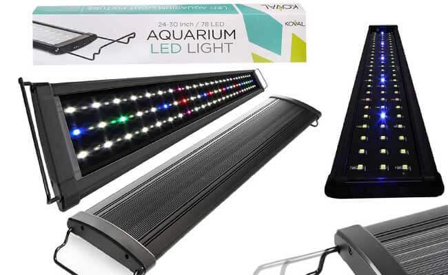 Koval Aquarium Lighting Fish Tank Light Hood with Extendable Brackets