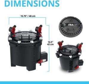 Fluval FX4 Dimensions